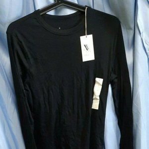 Black Top Size M A New Day Long Sleeve NWT Pullover Crewneck Basic Soft Warm New
